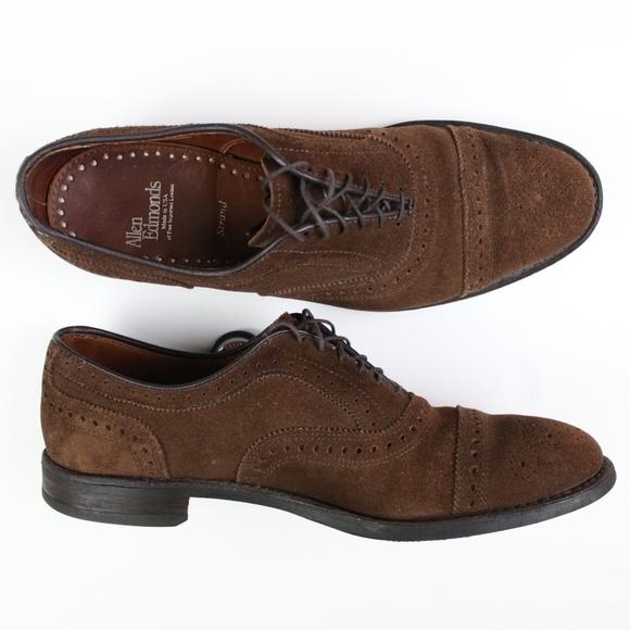 allen edmonds shoes cap toe oxford suede leather 9 d poshmark